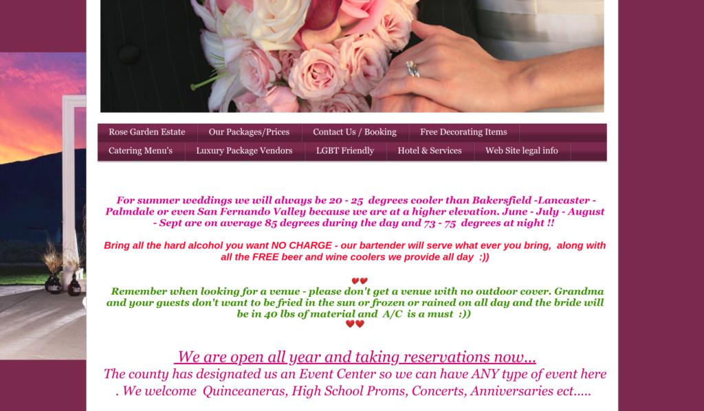 Wedding Advertising website