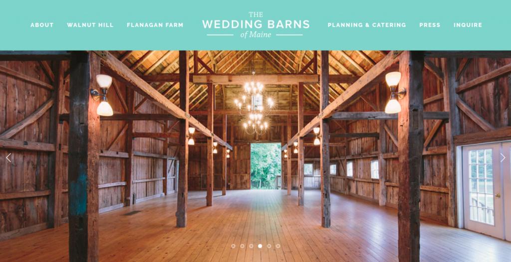 The wedding barns